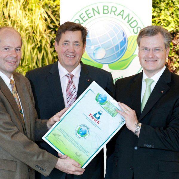 GREEN BRANDS Germany Frosch Zertifikatsüberreichung 2